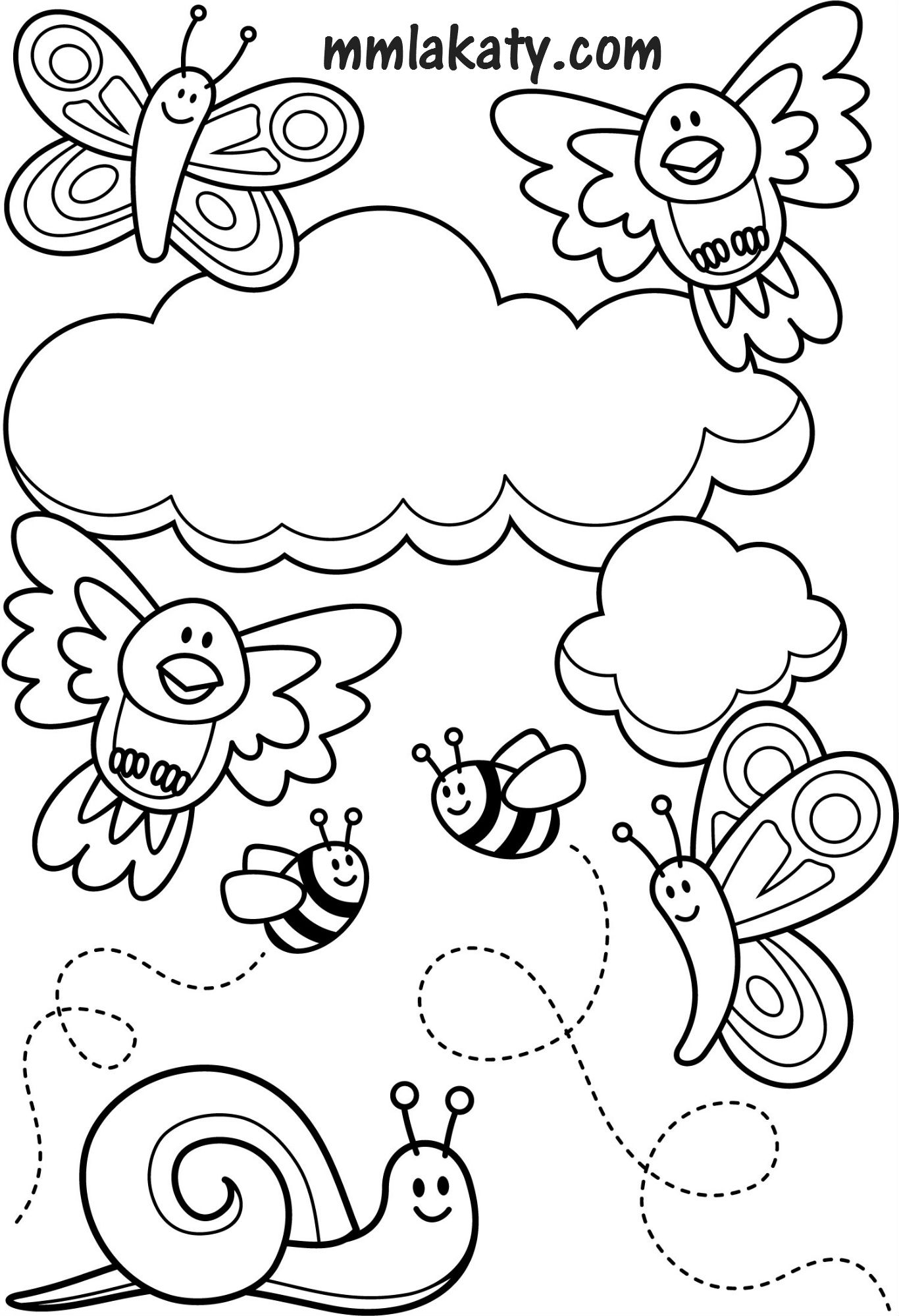 Insect Coloring Pages Pdf
