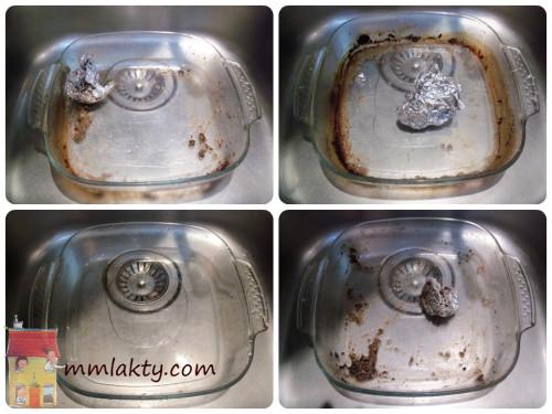 طريقتي لغسل الصواني المتسخة جدا بسهولة