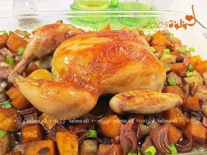 دجاج روستو بالمحلول الملحي