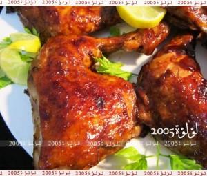 طريقة عمل الدجاج المشوي بالباربكيو