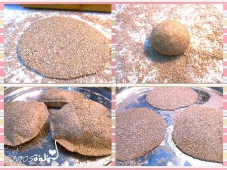 طريقة عمل الخبز السن بالصور و الخطوات : الخبز الأسمر أو السن ، سهل و نظيف لأنه بيتي ، كمان أذا أتغطي بعد الخبز بيكون طري