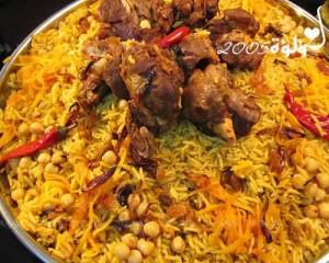 طريقة عمل الأرز البخاري باللحم