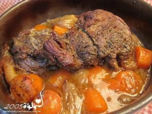 طريقة عمل لحم بالأعشاب بالفرن بالصور :