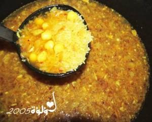 طريقة عمل أرز بالحمص بالصور و الخطوات :