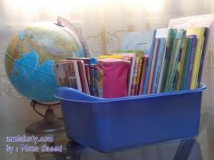 فكرة لترتيب كتب و كراسات أطفالك