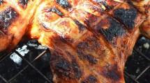 طريقة شوي الدجاج علي الفحم