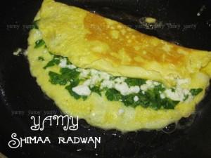 طريقة عمل أومليت البيض بالجبن بالصور