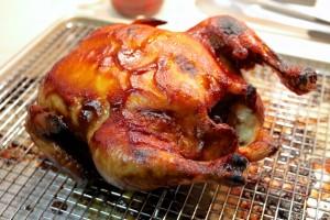 شوي الدجاج بالفرن بدون شواية