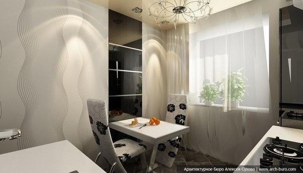 صور ديكور مطبخ مودرن أبيض و أسود