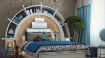صور غرفة نوم للشباب بتصميم البحارة