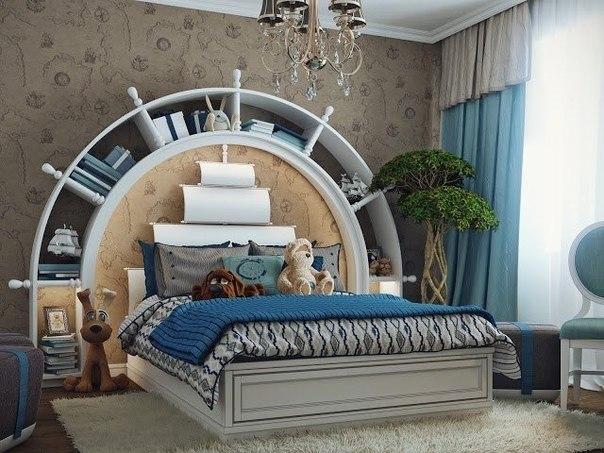 صور غرفة نوم للأولاد بتصميم البحارة