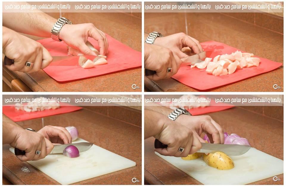 طريقة عمل صدور دجاج مشوية بالفرن مع الخضروات :
