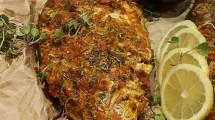 سمكة مشوية بالفرن بتتبيلة التكا مسالا