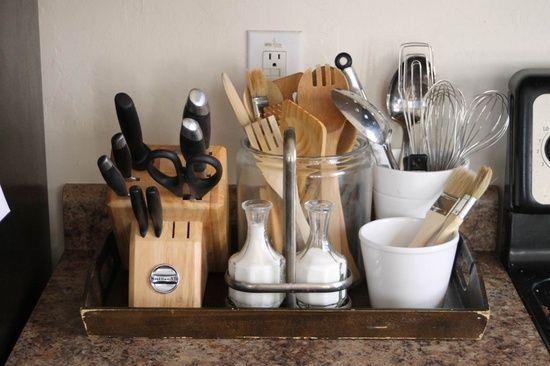 بالصور طريقة لتنظيم كاونتر المطبخ