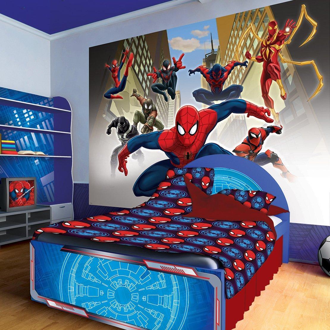 Bedroom Decoration Ideas 2016: صور ديكور سبايدرمان لغرف الأطفال