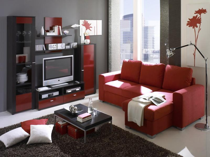 - Living room ideas black white and red ...