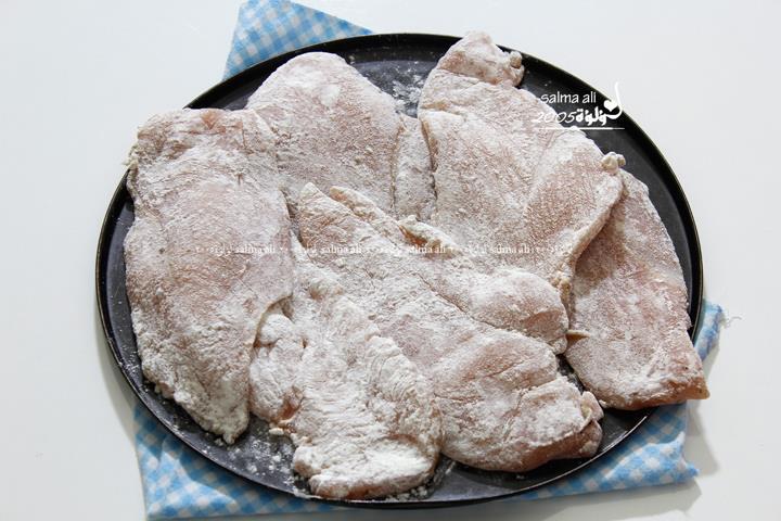 بالصور طريقة عمل بيكاتا الدجاج بالليمون