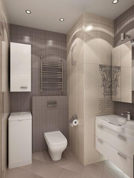 صور ديكور حمام صغير باللون البيج