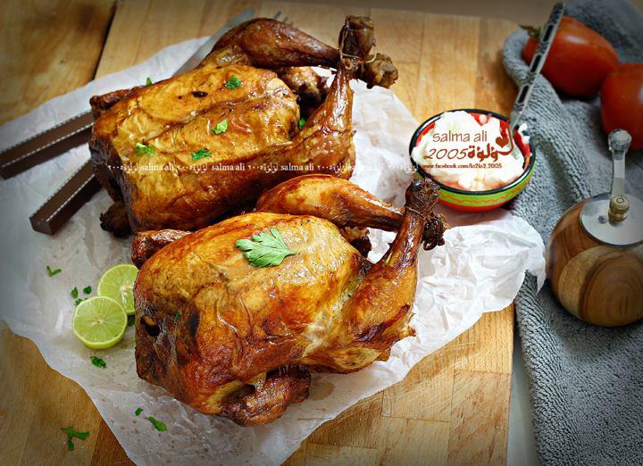 دجاج شواية مثل المطاعم بالصور