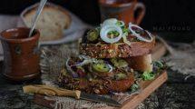 شرائح اللحم المشوي مع صلصة البستو