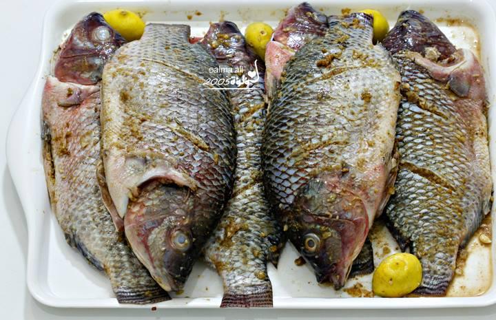 طريقة عمل السمك المقلي بالصور