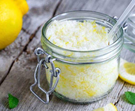 سكرب السكر و الليمون لتقشير البشرة