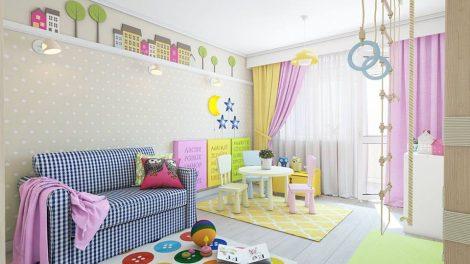 أفكار لديكور حوائط غرف الأطفال