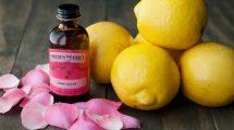 الليمون و ماء الورد لتفتيح البشرة