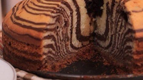 طريقة عمل الكيكة الرخامية