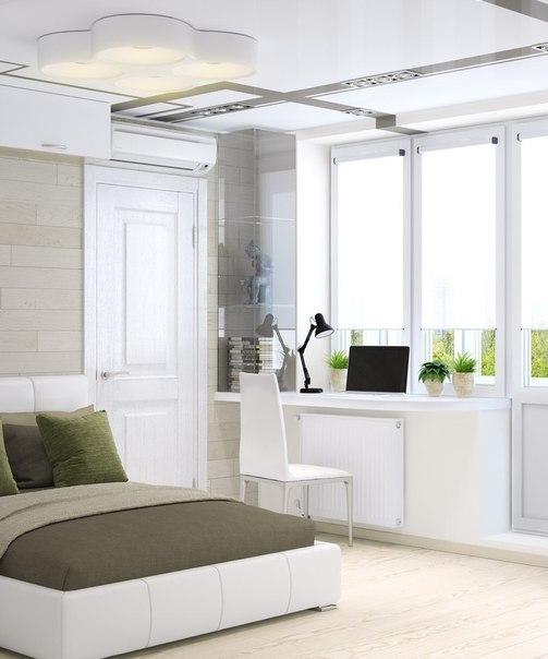غرفة نوم و مطبخ للمساحات الصغيرة