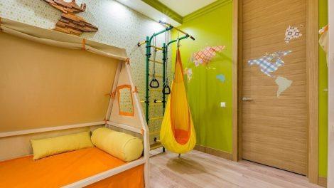 ديكور غرفة أطفال باللون البرتقالي