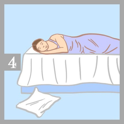 اكتشف شخصيتك من شكل وسادتك أثناء النوم