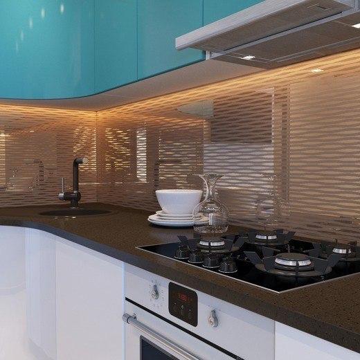 صور ديكور مطبخ باللون الأبيض و التركواز