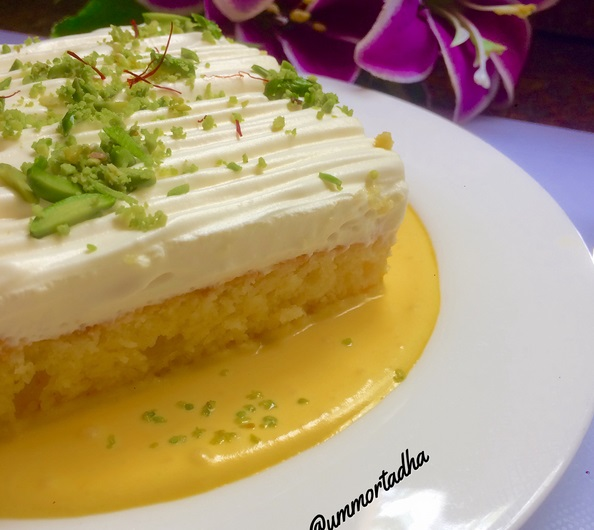 الكيكة التركية المشربة بالحليب مع الكريمة لذيذة وسهلة التحضير - بيتى مملكتى