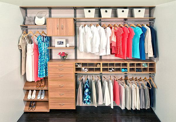 افكار مبتكرة لترتيب و تنظيم خزانة الملابس