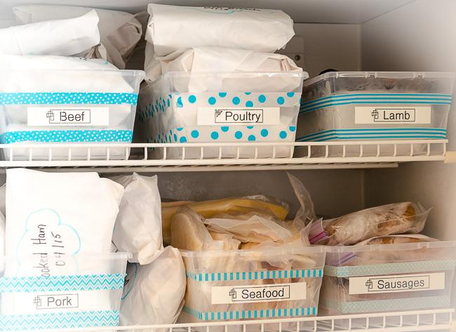 خطوات تنظيم و ترتيب فريزر الثلاجة