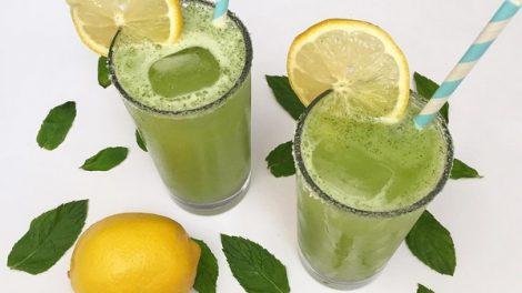 طريقة تحضير عصير الليمون بالنعناع المنعش و البارد