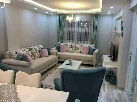 e2dc0955f ديكور شقة تركية بسيطة باللون الأبيض و الأزرق بالصور - بيتى مملكتى