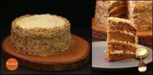 أطيب كيكة جزر مع تغطية كريمة الجبن اللذيذة