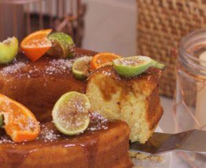 طريقة عمل كيكة البرتقال و التين