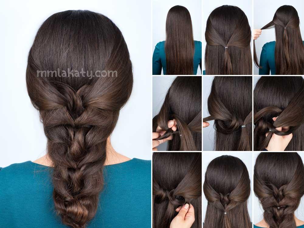 بالخطوات و الصور : تسريحة شعر بسيطة للشعر الطويل