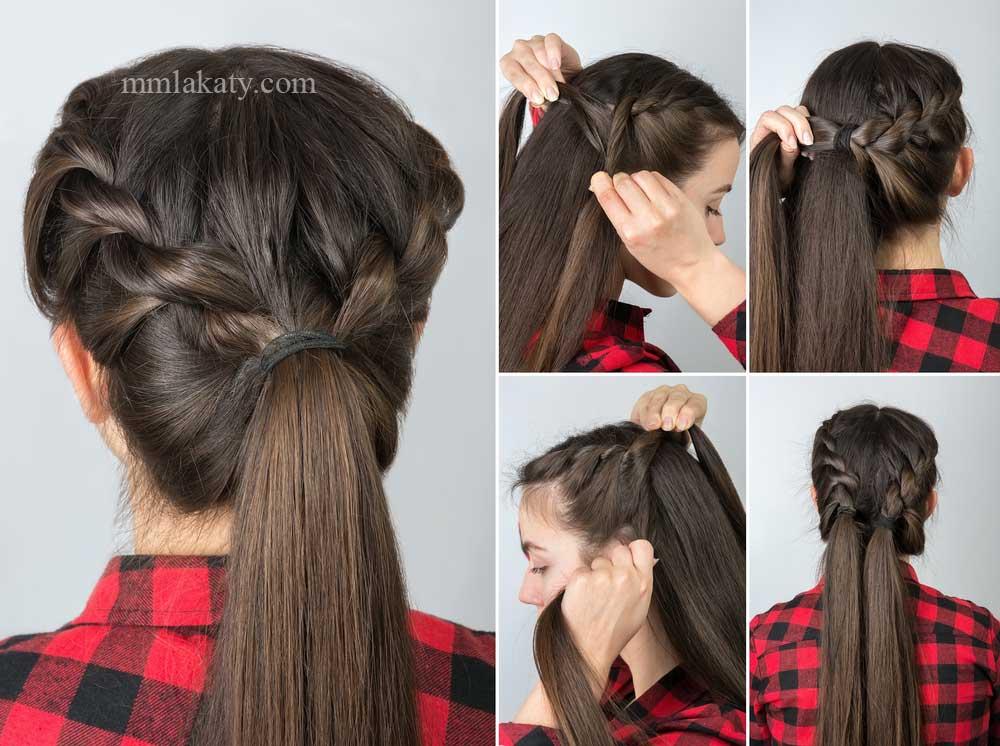 تسريحة شعر بسيطة وسهلة للشعر الطويل بالصور