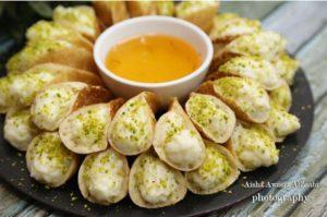 قطايف بالقشطة سهلة و لذيذة من حلويات رمضان