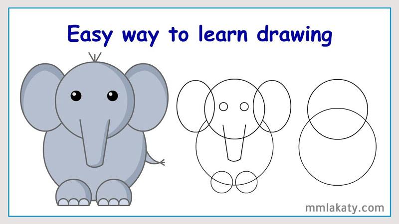 رسم الفيل بالرصاص